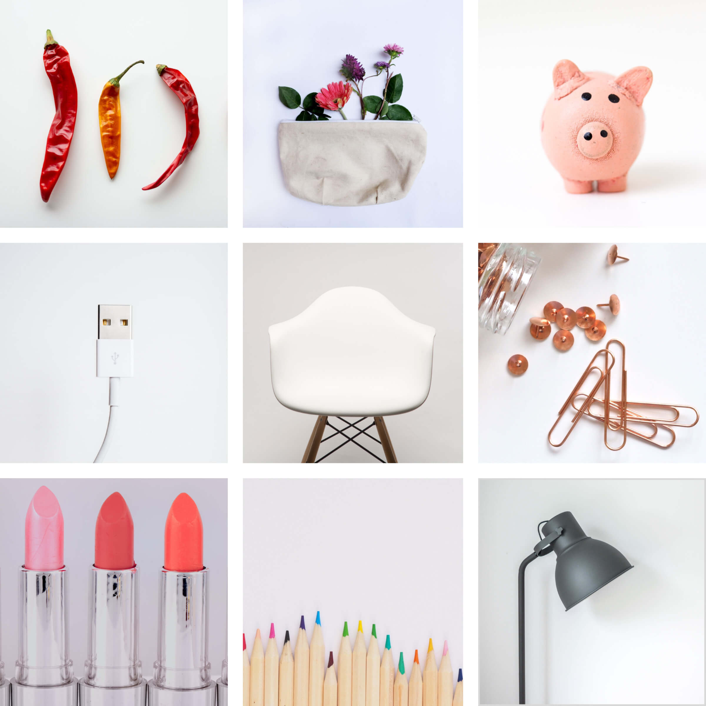 Lovely Collection Of Random Bits Of Komono. From Dried Chillis To Coloured Pencils. Images courtesy of Unsplash