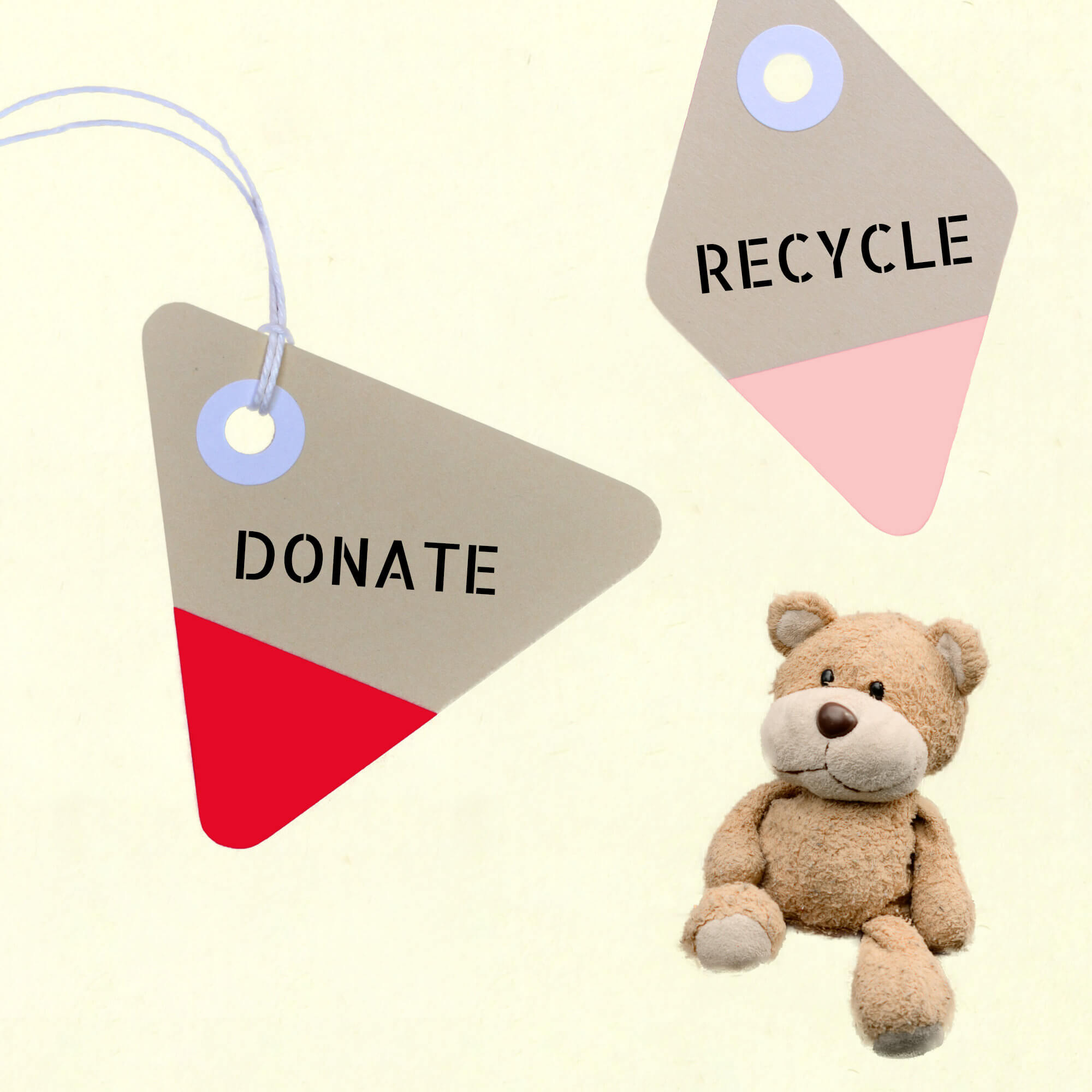 Responsible Discarding Can Get Tricky When It Comes to Sentimental Items. Like This Teddy, Donate Unwanted Items When You Can