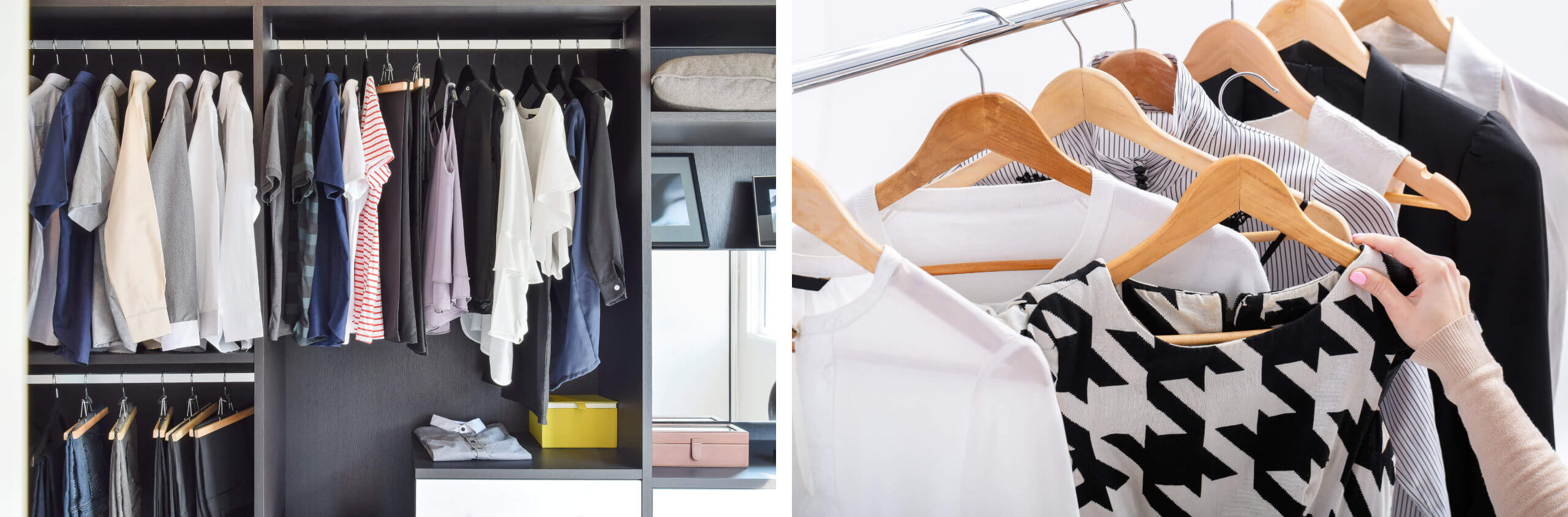 Joyful Hanging Closet Storage Using The KonMari Method Of Tidying