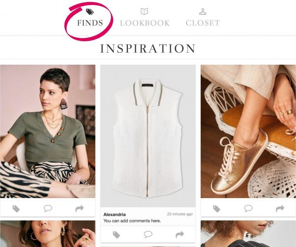 Inspiring Clothing Using The Shopping Finds Feature Of ALSO in PINK's Virtual Wardrobe Subscription Service