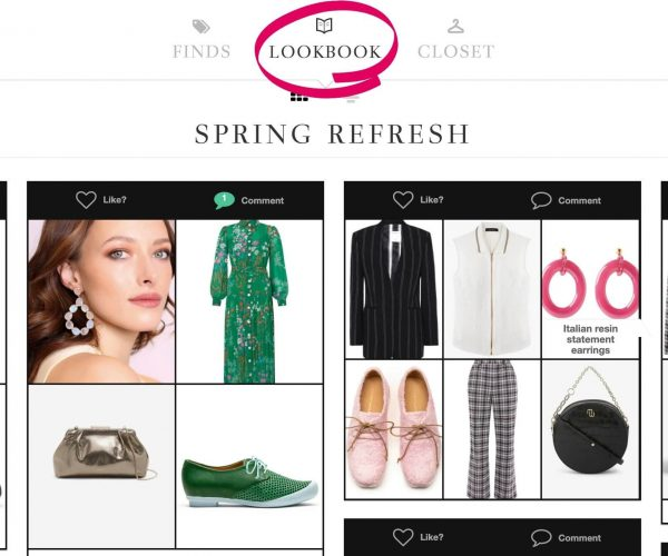 Clothing For A Spring Refresh Using The Lookbook Feature Of ALSO in PINK's Virtual Wardrobe Subscription Service