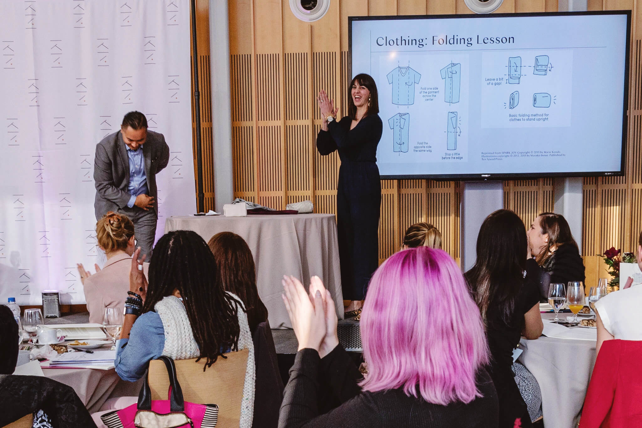 KonMari Clothing Folding Lesson During The KonMari Consultant Certification Course in New York, November 2019