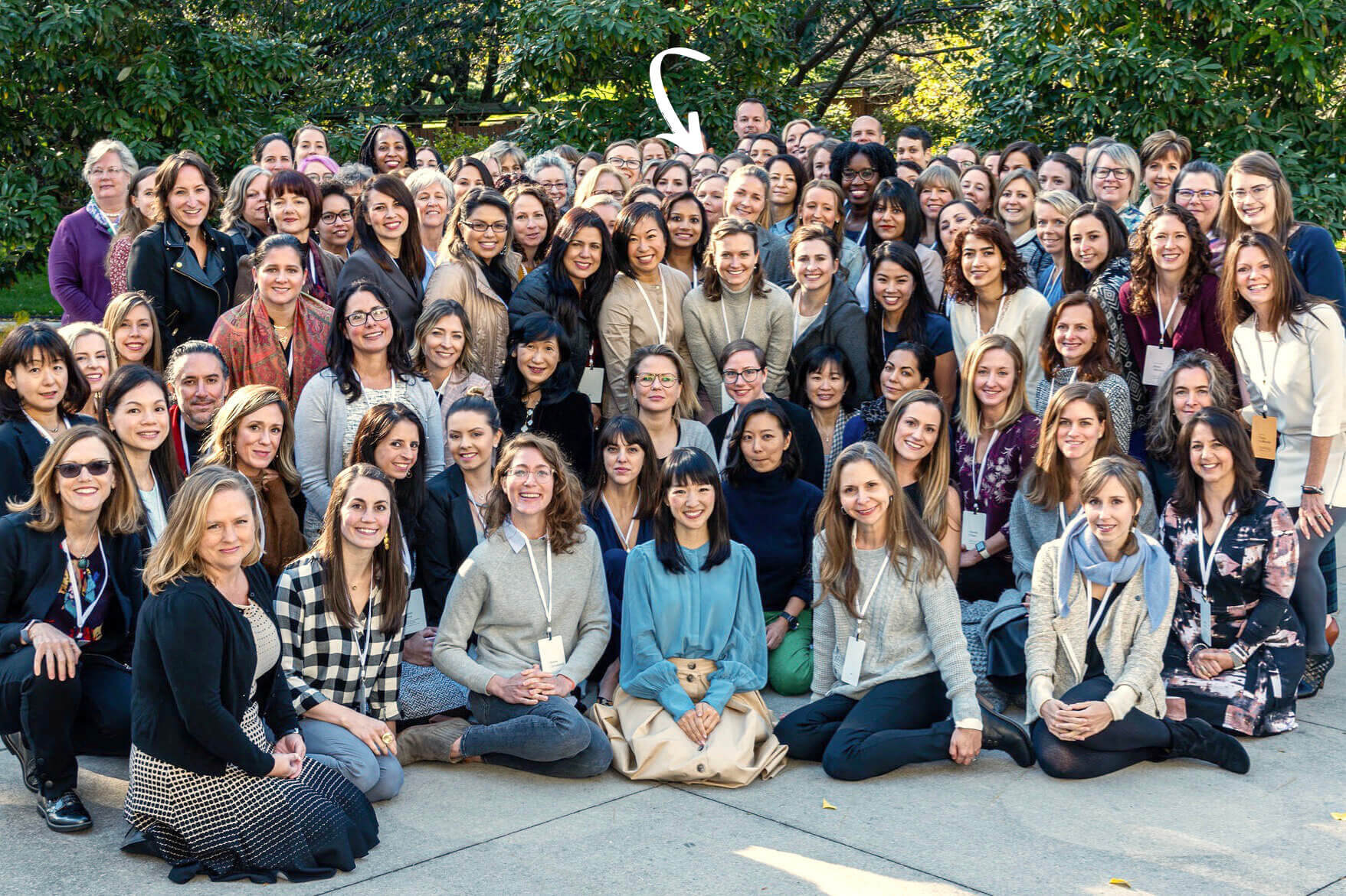 Marie Kondo In Group Photo During The KonMari Consultant Certification Course in New York, November 2019