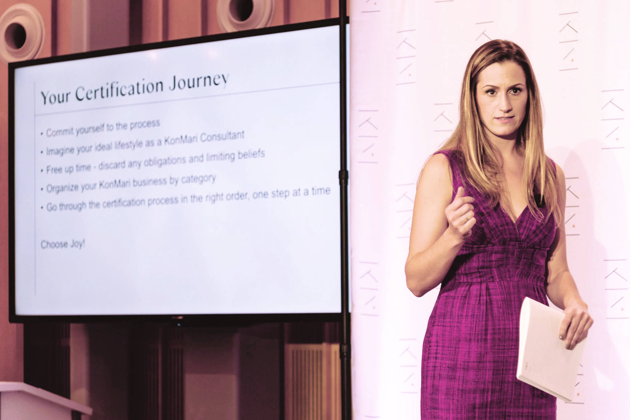 KonMari Team Leader, Patty Morrissey, The KonMari Consultant Certification Course in New York, November 2019