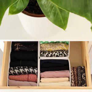 KonMari Tidying: Clothing Category. Neatly Folded Colourful Clothes Using The KonMari Method