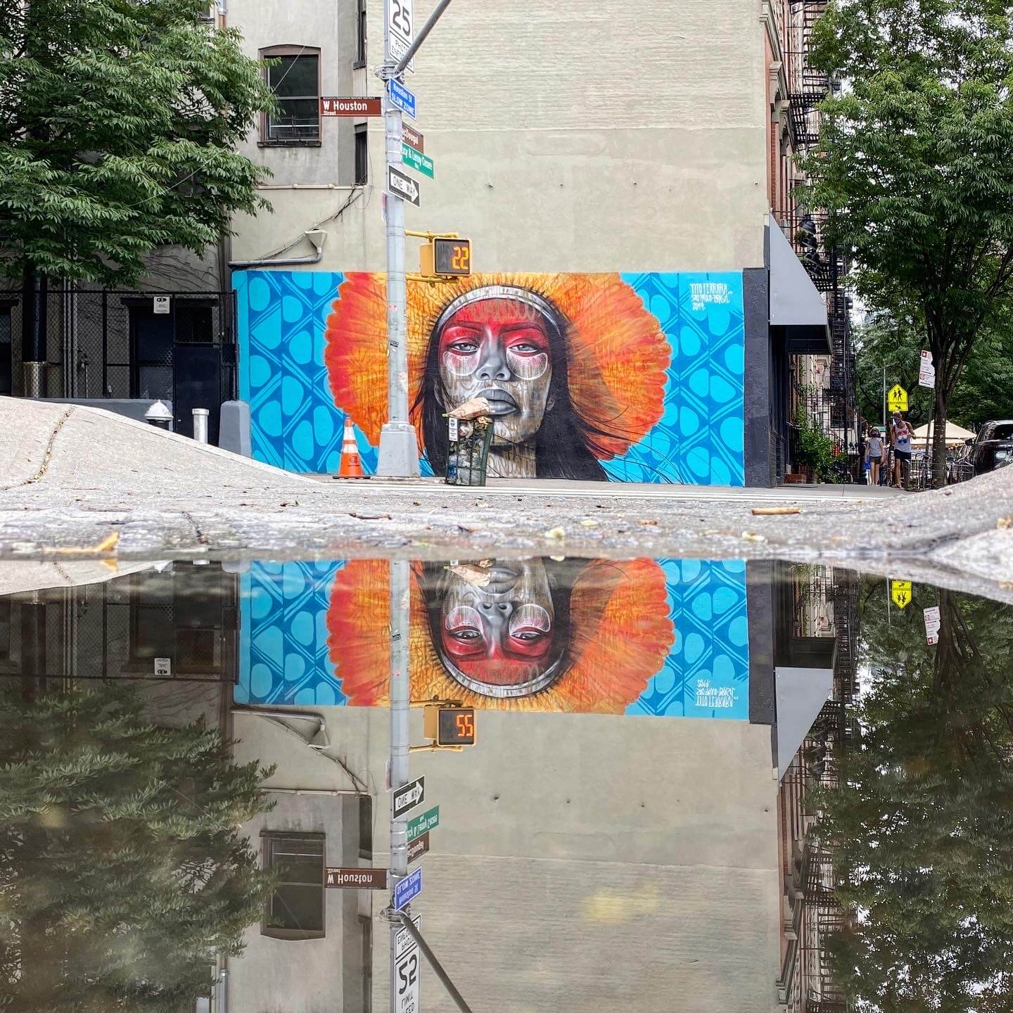 Reflection in Puddle - Street Art Photography by Sarah Sansom