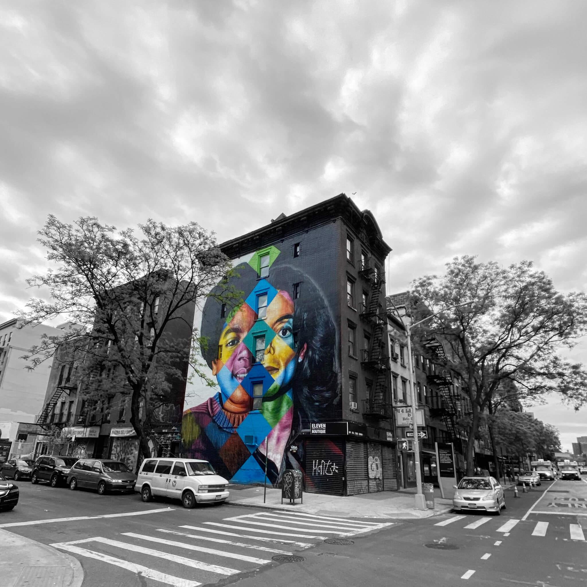 Monochrome Colour Pop - Street Art Photography by Sarah Sansom