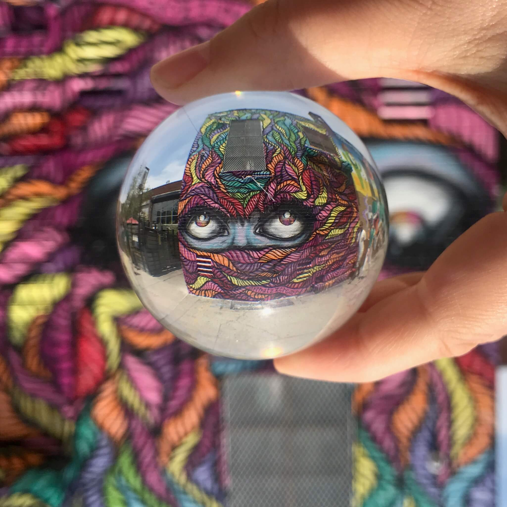 Mirror Ball Reflection Street Art Photography by Sarah Sansom