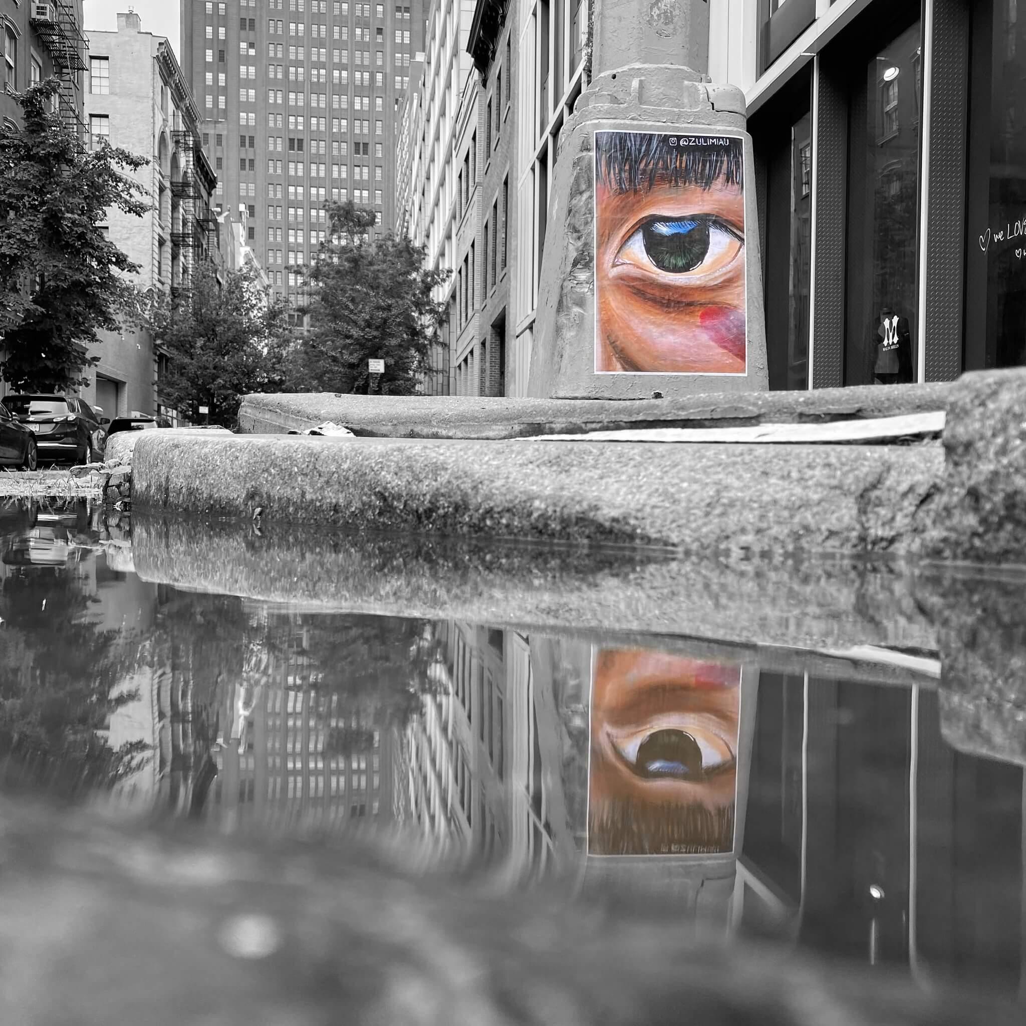 Black & White with Colour Splash - Street Art Photography by Sarah Sansom