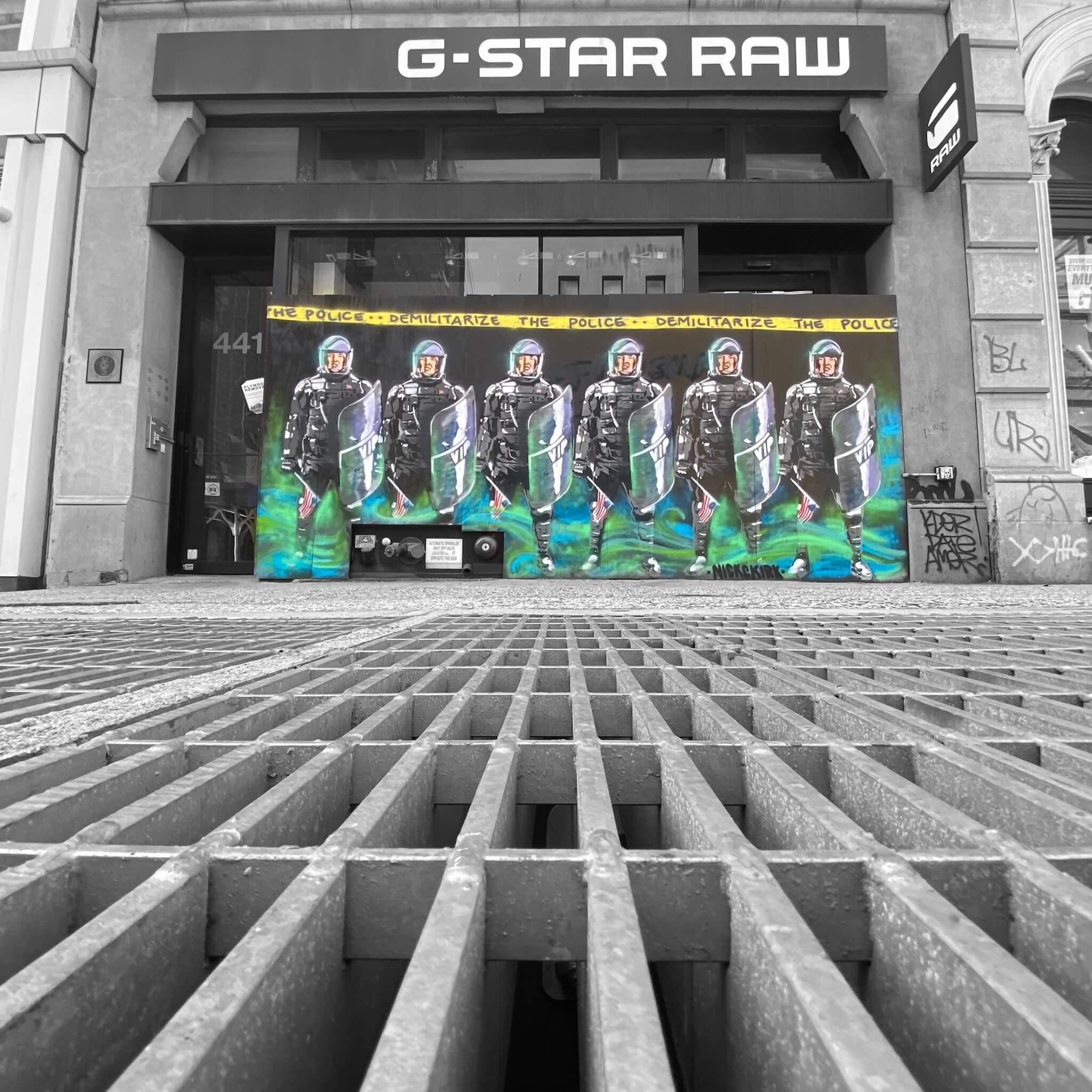 G-Star Raw - Street Art Photography by Sarah Sansom