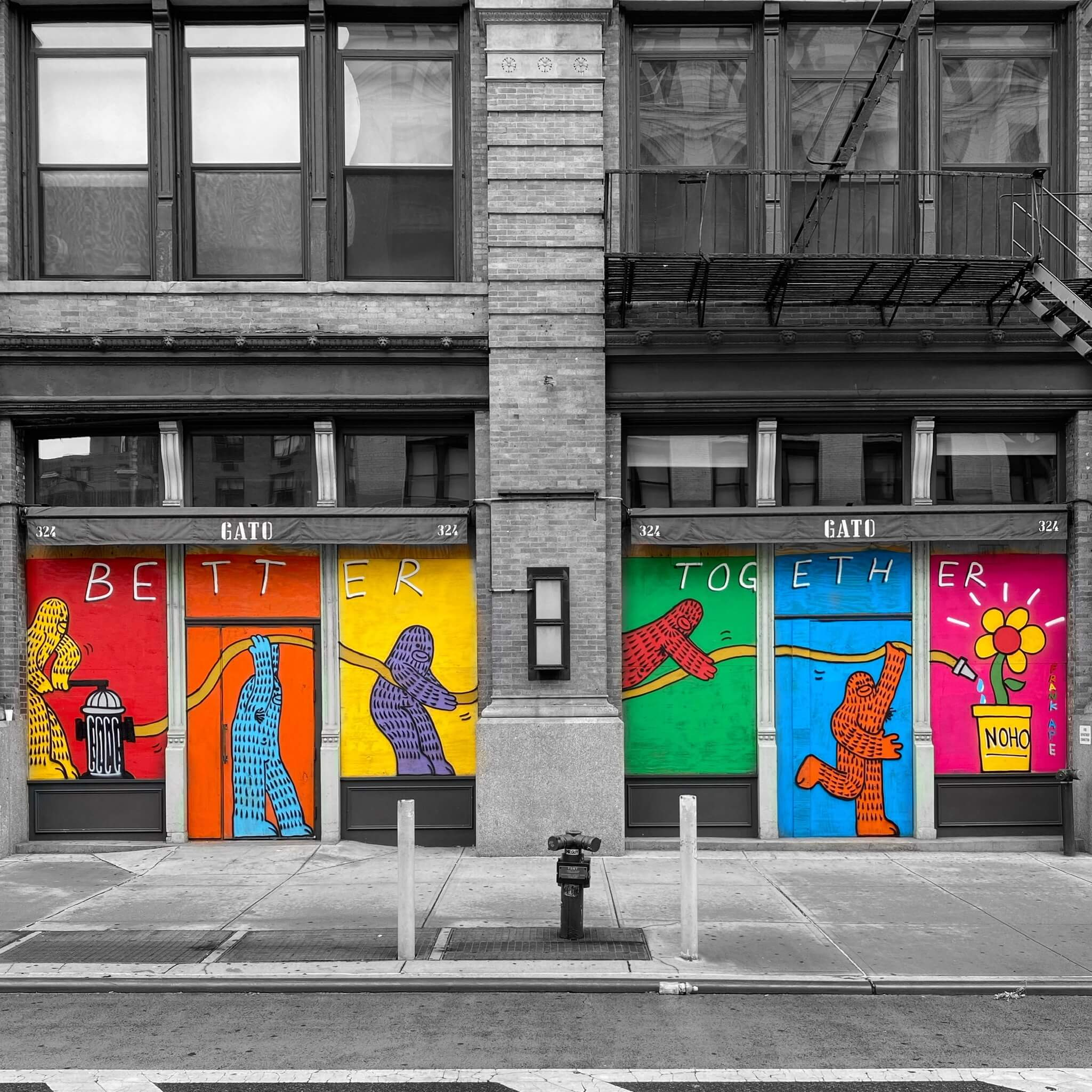 Colourful Street Art Photography by Sarah Sansom - Better Together