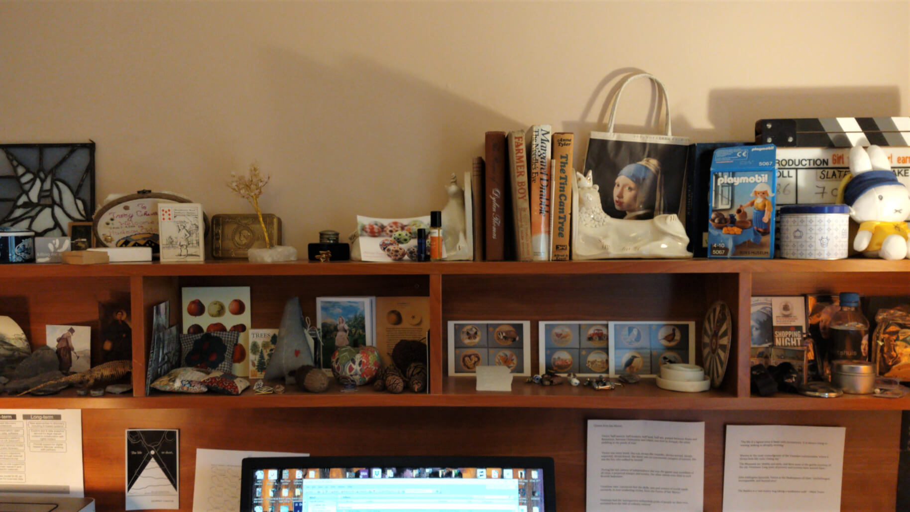 Tracy Chevalier Studio - Girl with a Pearl Earring Memorabilia & Cubby Holes
