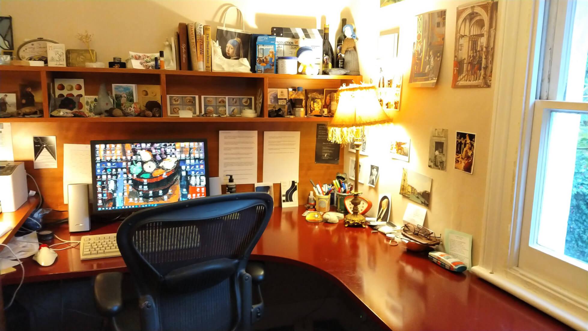 Tracy Chevalier Studio - Custom Cherry Wood Desk