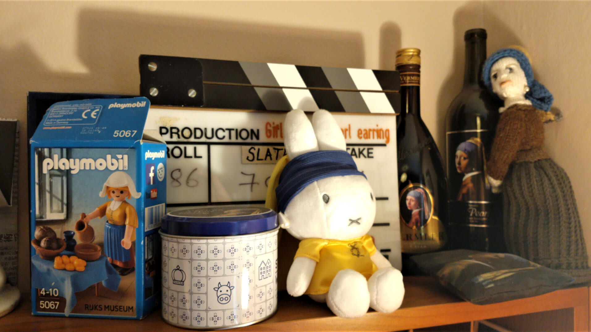 Tracy Chevalier Studio - Girl with a Pearl Earring Memorabilia & Miffy Doll