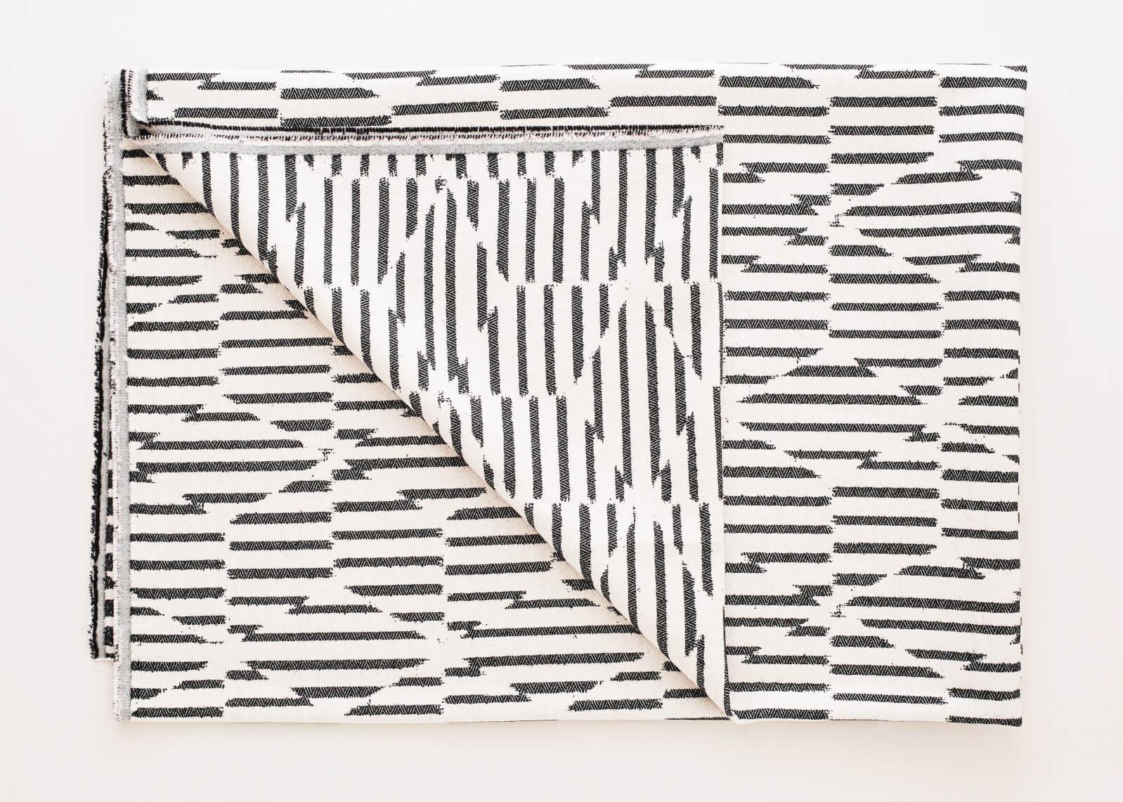 Beatrice Larkin Folded Monochrome Block Throw Light Version