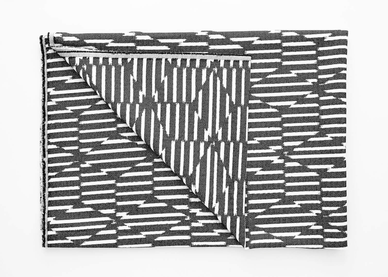 Beatrice Larkin Folded Monochrome Block Throw Dark Version