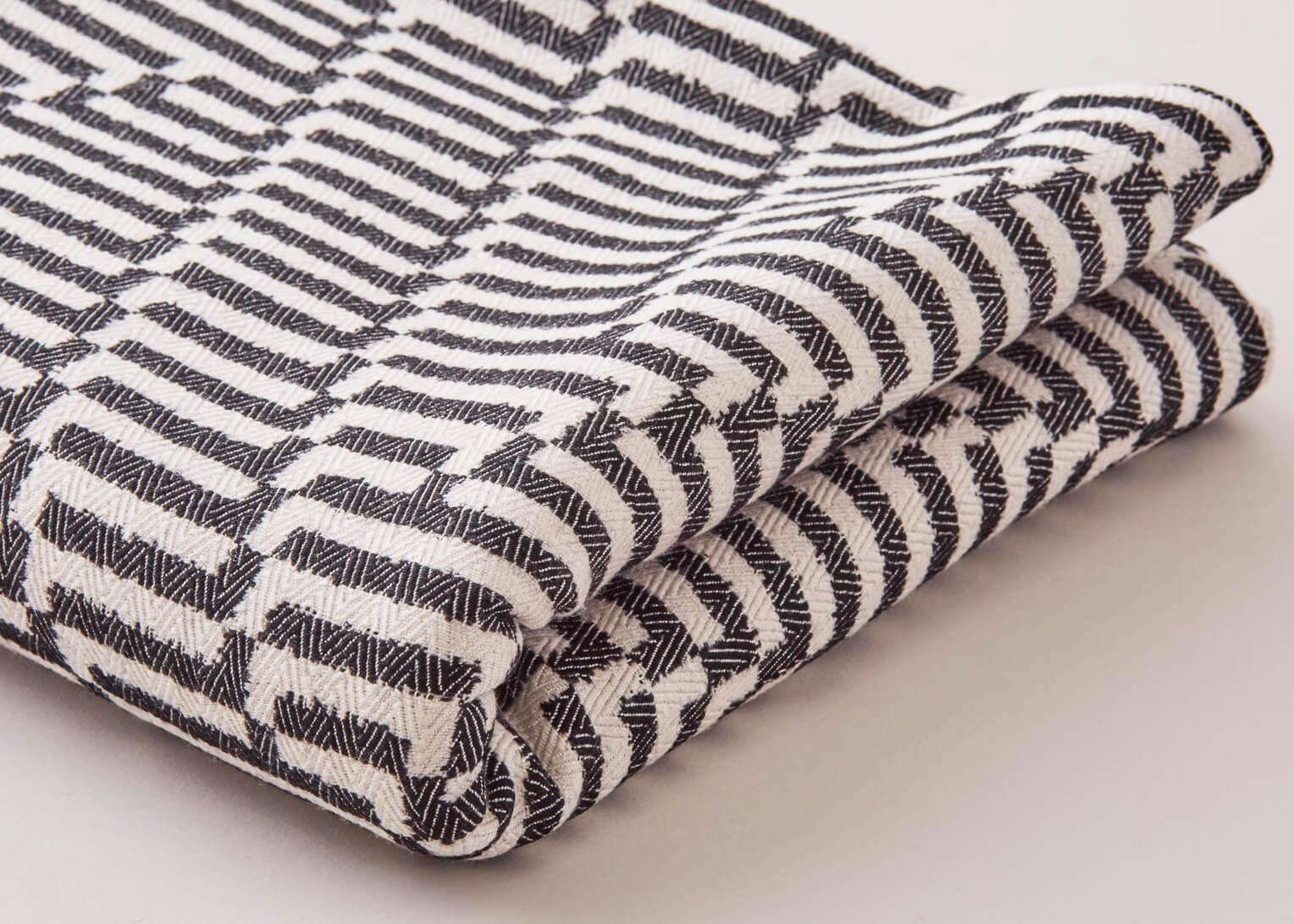 Beatrice Larkin Folded Monochrome Point Throw