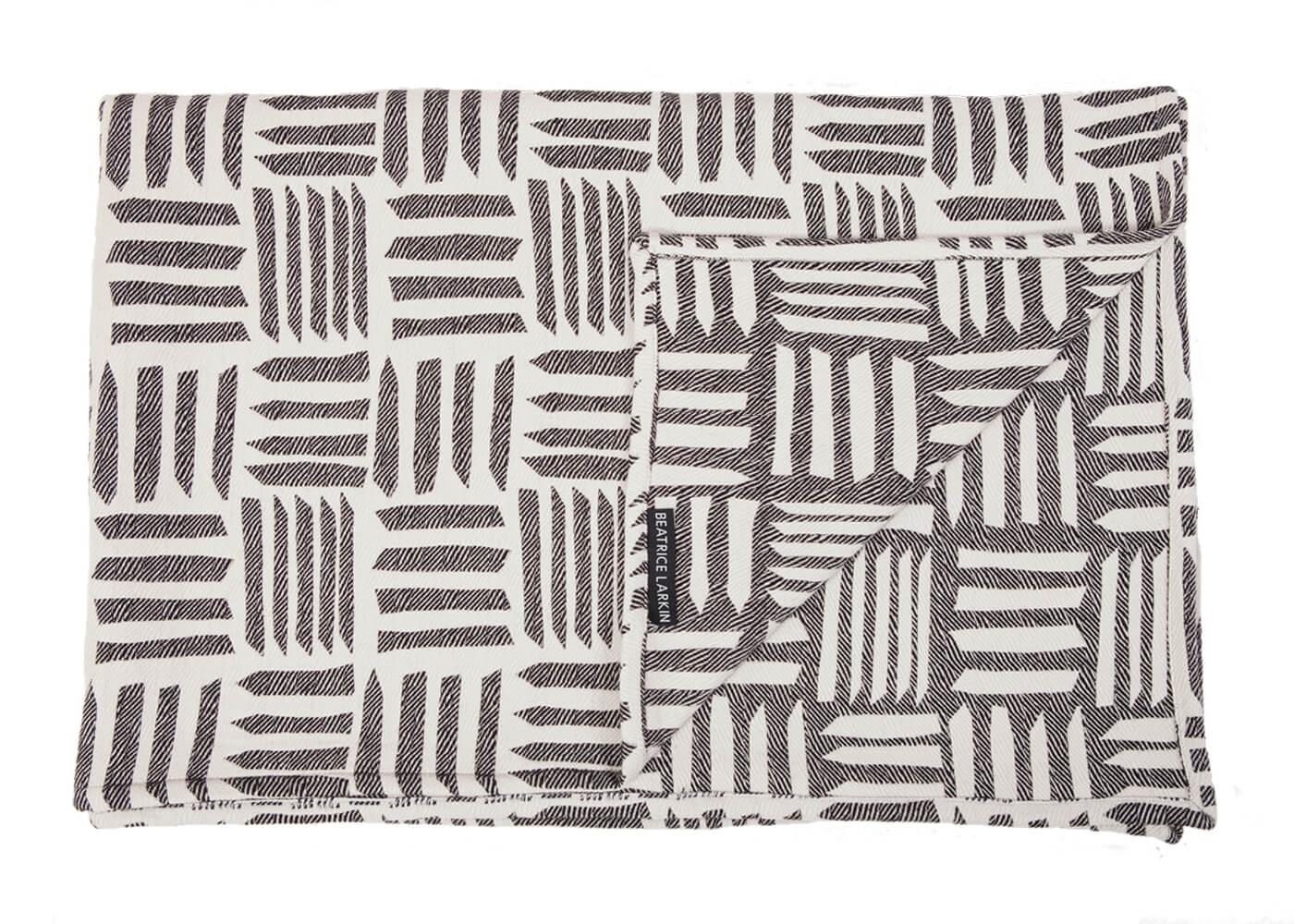 Beatrice Larkin Cut Throw, Merino Wool Blanket