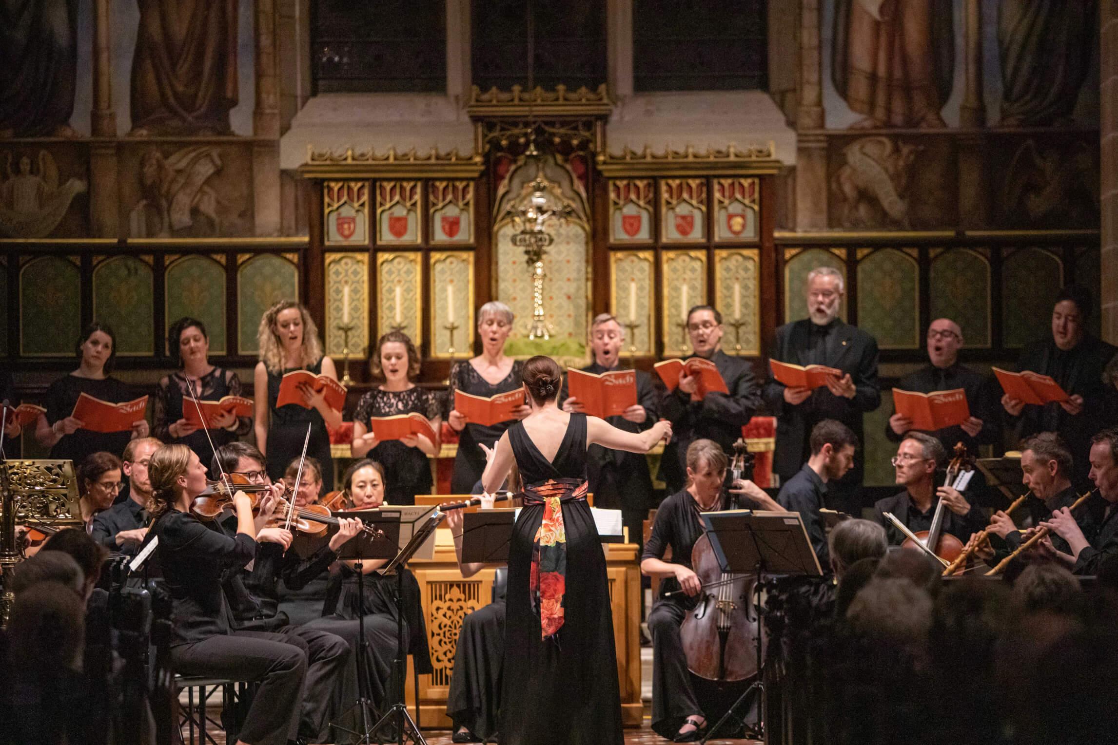 Bach Akademie Concert – a view of the choir.
