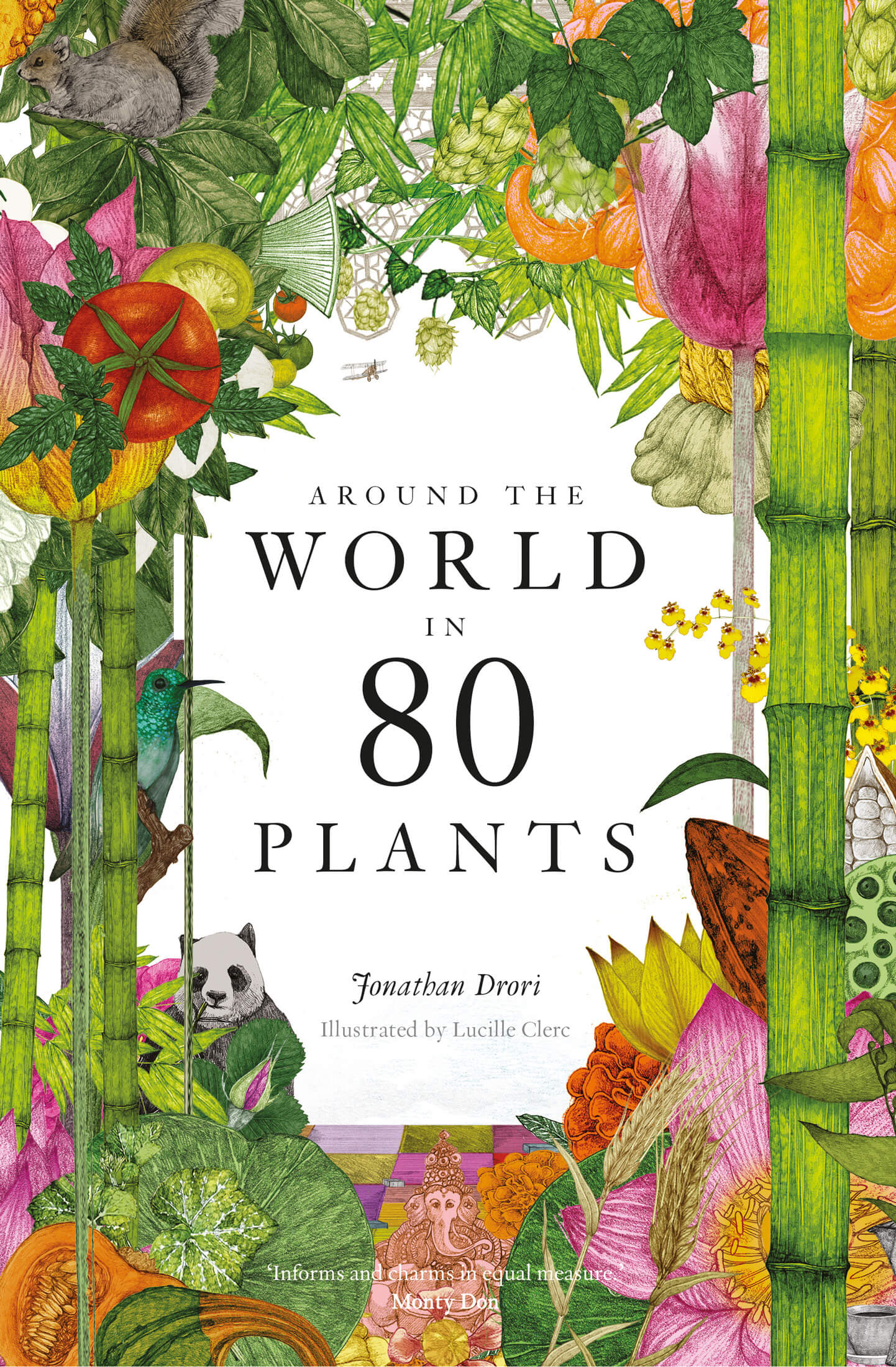 Cover of Around the World in 80 Plants by Jonathan Drori