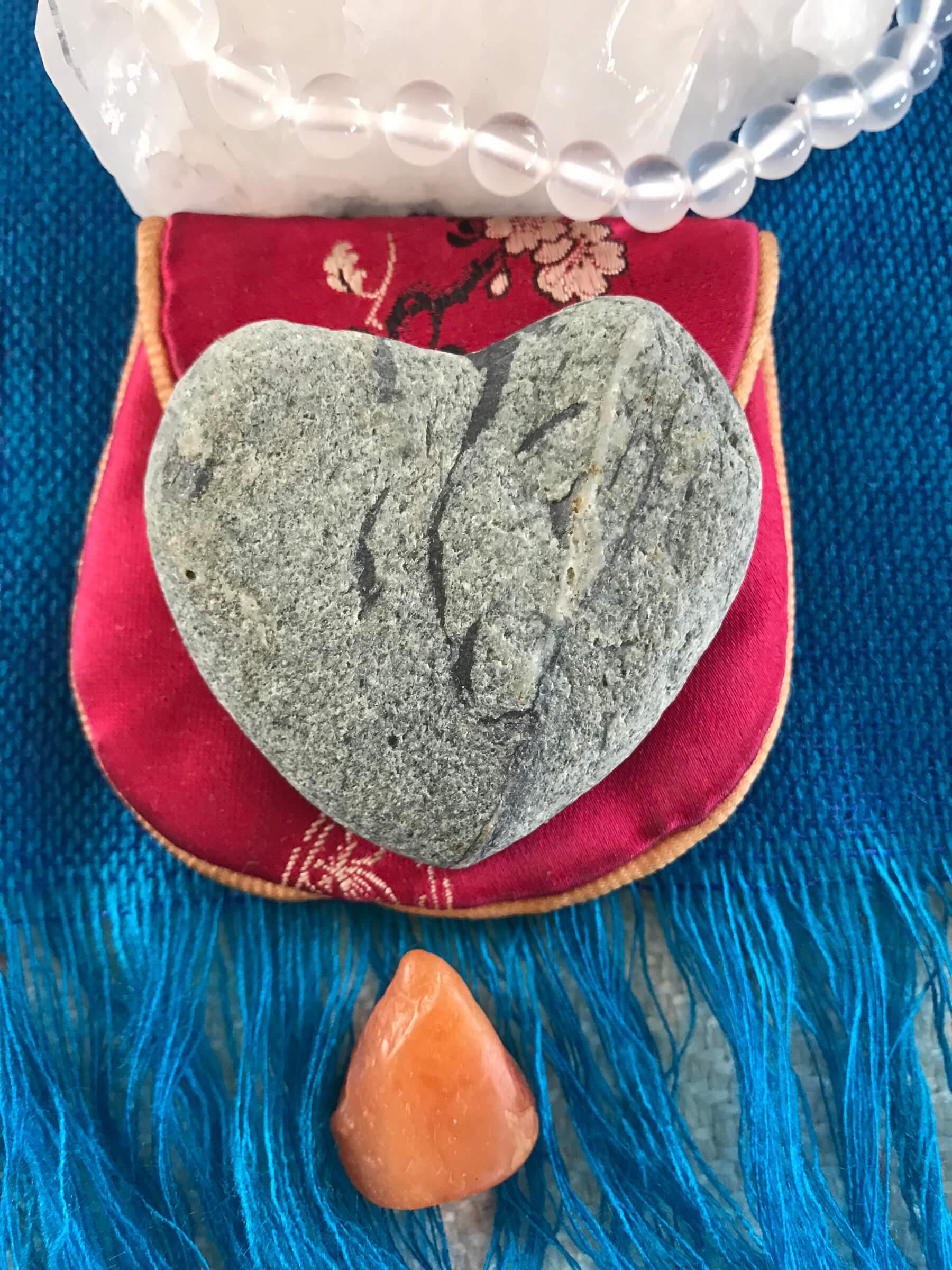 Heart-shaped stone Martha Nicholson found in New Zealand.