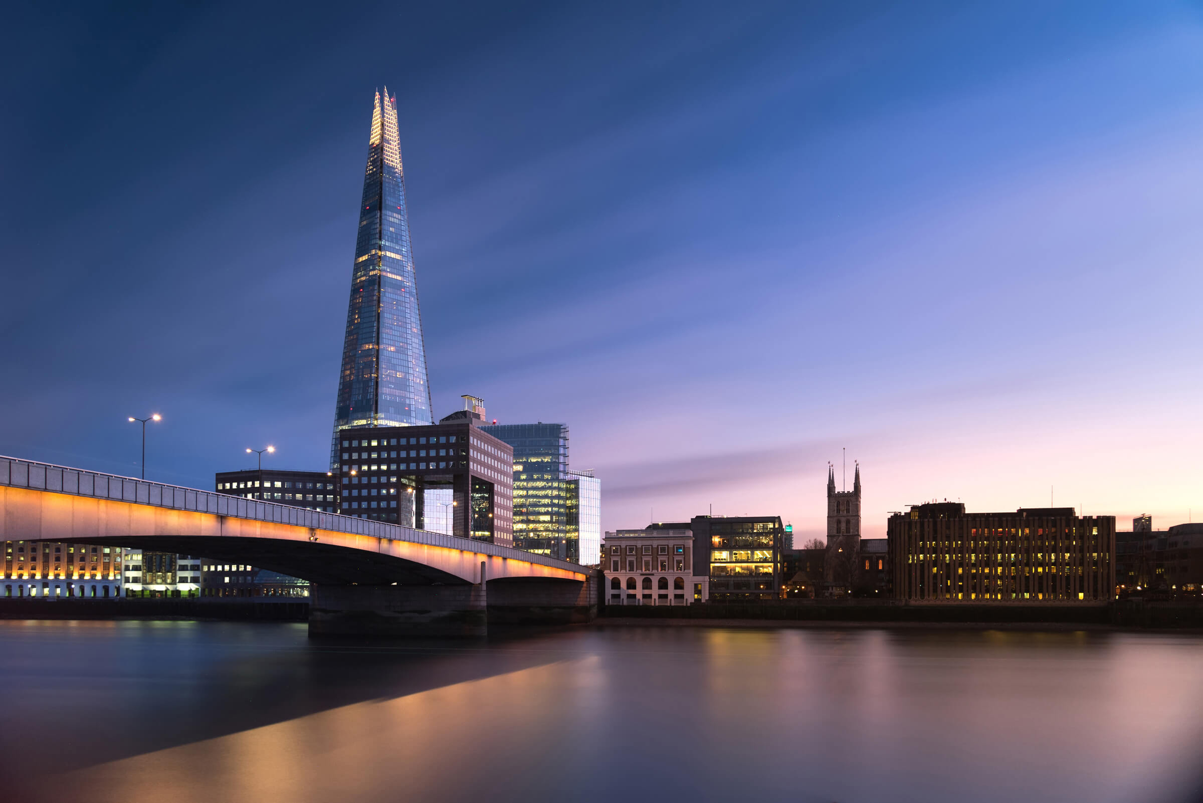 View of London Bridge and the Shard from Howard Kennedy Law Firm