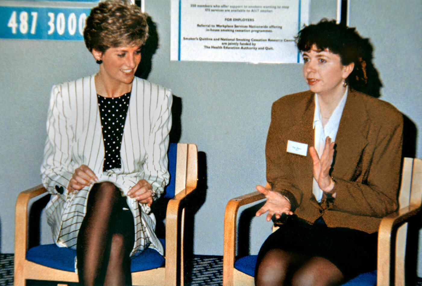 Entrepreneur Pam Dibbs with Princess Diana
